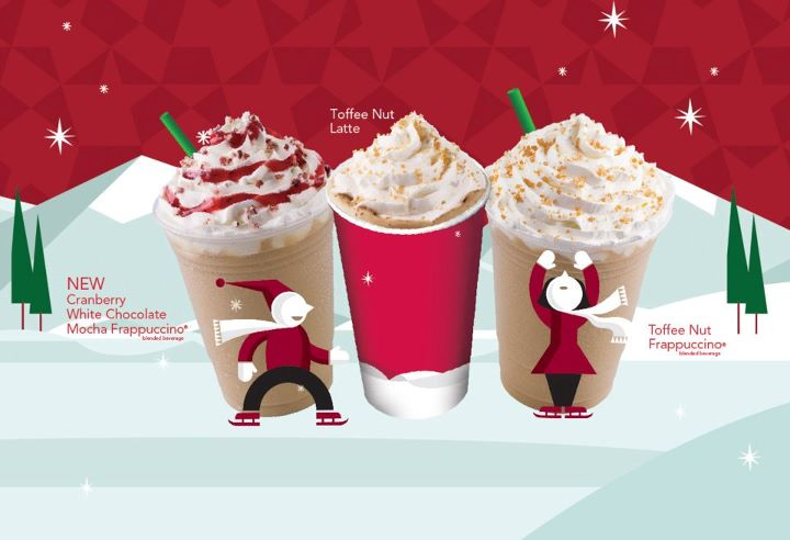 in conjunction to christmas - Starbucks Merry Christmas