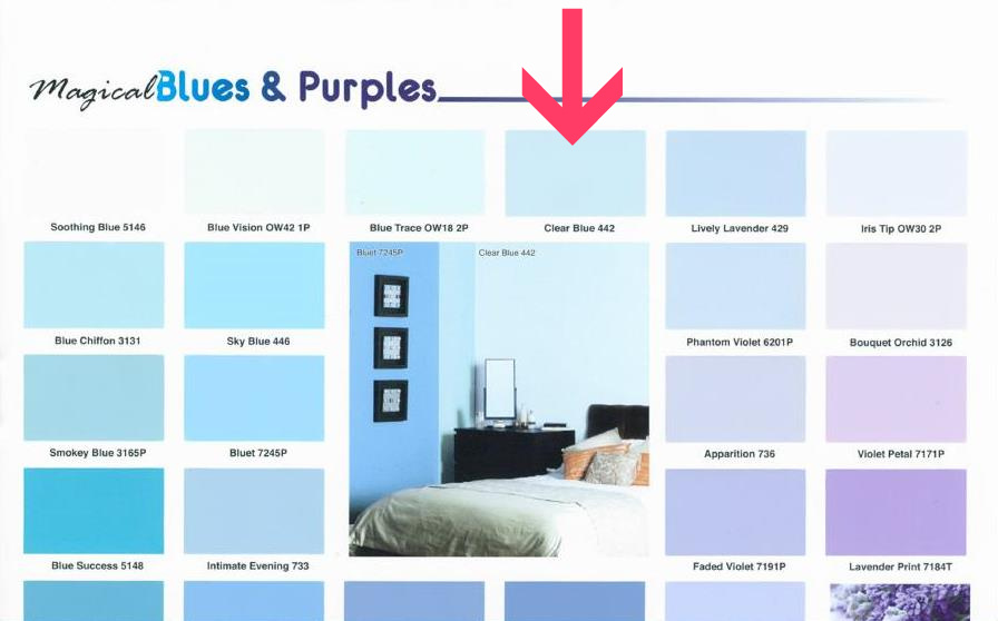 Different Shades Of Blue Paint The