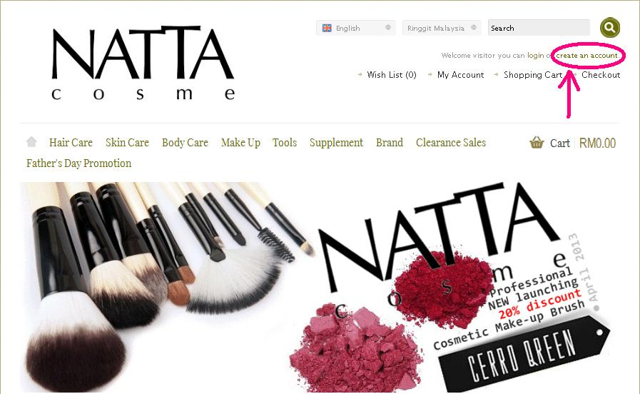 How to purchase from natta cosme this is me melissas blog create an account with a valid email address fandeluxe Choice Image